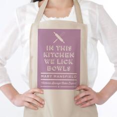We lick bowls apron