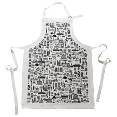 Illustrated British apron