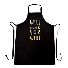 Will cook for wine apron