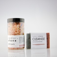Floral Bath Salts + Cleanse Bar Pack