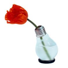 Bluehbirne lightbulb vase