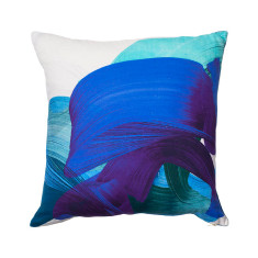 Adrian cushion cover in teal