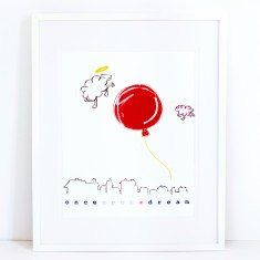 Dream Balloon Print - Once Upon A Dream