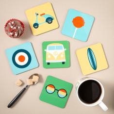 Est 1960's Coasters (Set of 6)