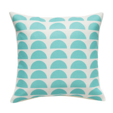 Moon cushion cover in yellow or aqua