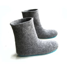 Handmade Women's Wool Boots In Moon Walker