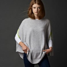 Cashmere neon swing poncho