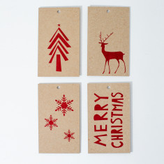 Christmas gift tags - red