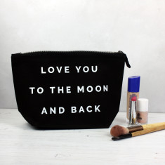Love you to the moon and back makeup bag