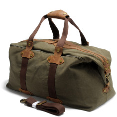 Green Canvas Weekend Duffle Bag