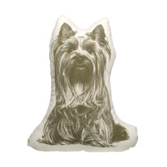 Areaware fauna cushion small yorkshire terrier