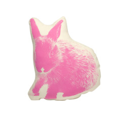 Areaware fauna cushion pico bunny in pink