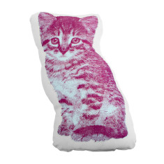 Areaware fauna cushion pico kitten in pink