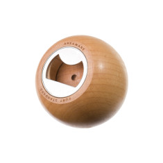 Areaware beech wood sphere bottle opener