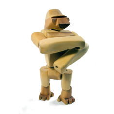 Areaware Hanno the gorilla wooden animal