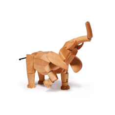 Areaware Hattie the elephant wooden animal