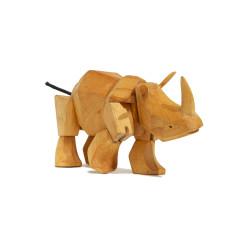 Areaware Simus the rhino wooden animal