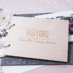 Personalised visitor guest book (various colours)