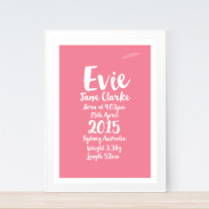 Fancy bright birth print (various colours)