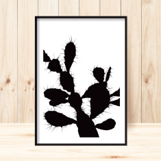 Silhouette cactus art print (various sizes)