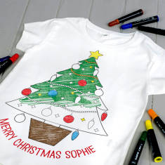Personalised Colour Your Own Christmas Tree Kit