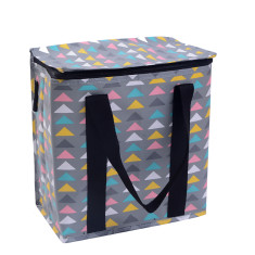 Insulated picnic bag in arrows print