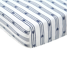 Arrow stripe fitted cot sheet (various colours)