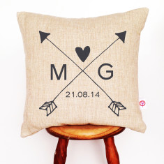 Arrows personalised cushion cover