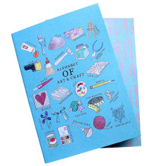 Art and craft alphabet notebook set