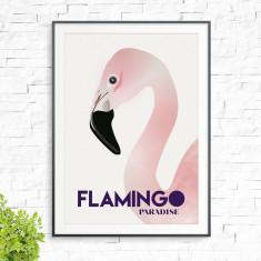 Flamingo paradise print