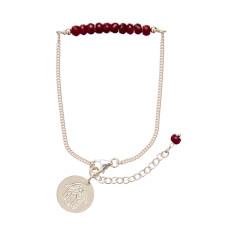 Ruby and Silver Snake Chain Bracelet