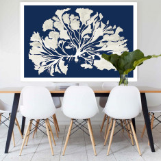 Flower Coral Canvas Art