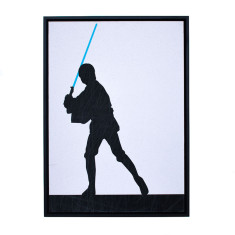 Star Wars Luke Skywalker silhouette framed print