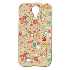 Flower & bird Samsung Galaxy S4 phone cover