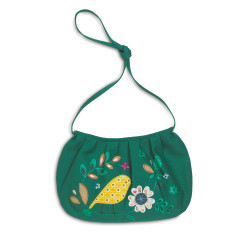 Bird embroidered bag