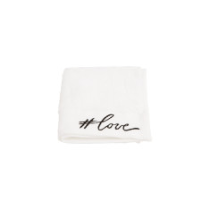 Love Embroidered Face Towel