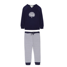 Navy Apple Tree PJs