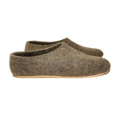 Men's Organic Wool Felt Slippers Cappuccino