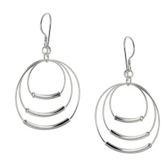 Sterling Silver Triple hoops on hooks