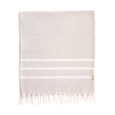 Hand Towels - Hand Woven Set of 2 in Cream and White