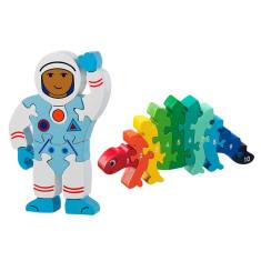 Astronaut and dinosaur jigsaw set