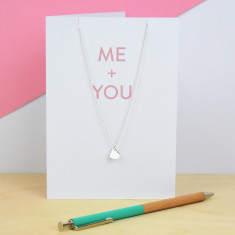 Me And You Greeting Card And Necklace Set