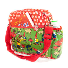Insulated Lunchbox Sling in Gnome Circle Flower print