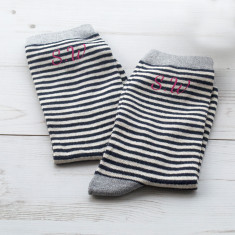 Monogrammed Striped Socks