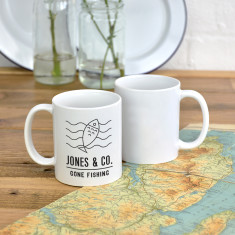 Gone Fishing Personalised Adventure Mug