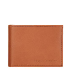 Noah leather wallet in camel