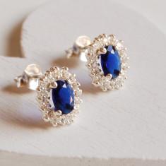 Vintage Style Sapphire Earrings