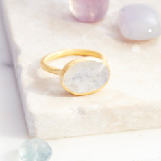 Roman Ring With Moonstone