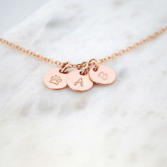 Personalised hand stamped paw print pet necklace