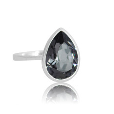Black Diamon teardrop ring